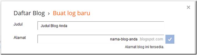 alamat blog yang tersedia dan bisa dipakai