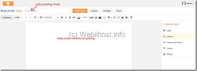 halaman posting Blogger