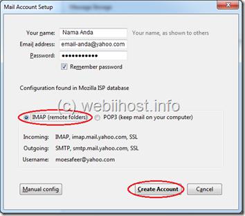 konfigurasi email yahoo