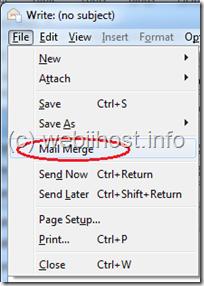 pilih mail merge