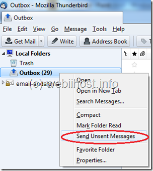 how to send group emails in tunderbird