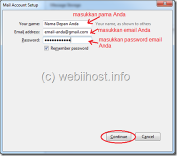 setting email